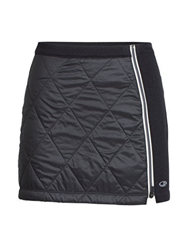 Icebreaker Merino Women's Helix Skirt, X-Large, Black/Snow
