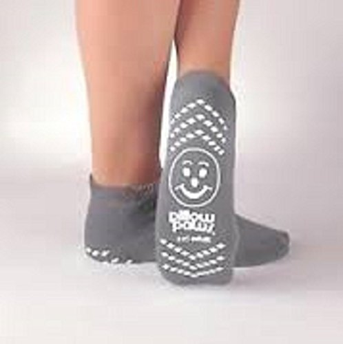 PillowPaws Terries Slip Resistant Socks XX-LARGE (GRAY) (3 pairs)