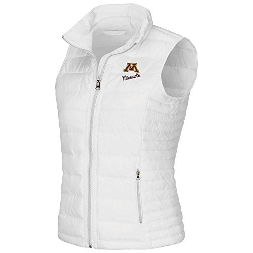 Womens NCAA Minnesota Golden Gophers Flux Puff Vest (White) - L