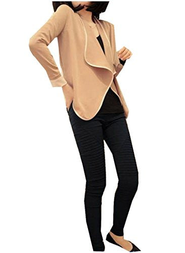 ForeverGod Women's Elegant /Color Conjoin Short Shoulder Pads Coat Aspicture Free Size