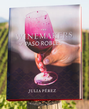 Winemakers of Paso Robles First Edition Book pictured in Vineyard