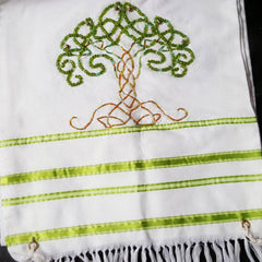 Handmade tree of life tallit