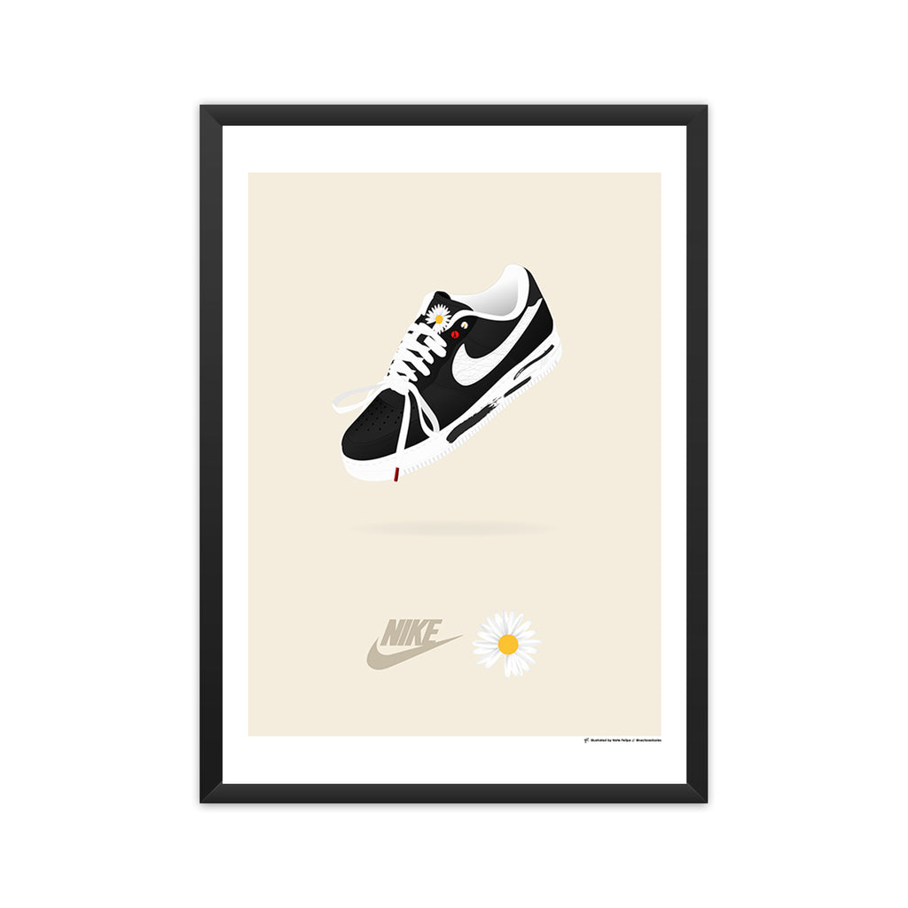 Nike x G-Dragon/Peaceminusone Air Force 1: 'Para-noise' framed