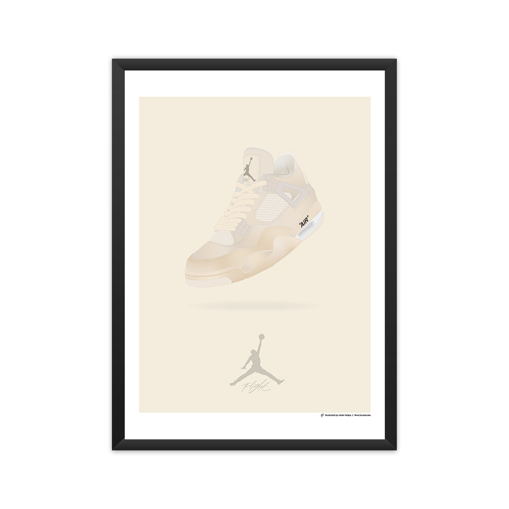 Air Jordan 4 x Off-White framed mockup