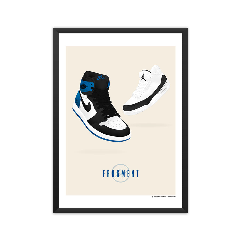 Fragment x Air Jordan Pack framed