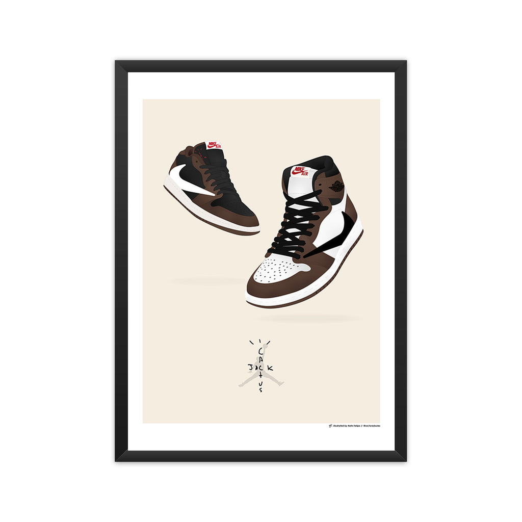 Air Jordan 1: Travis Scott 'Cactus Jack' (High & Low) framed