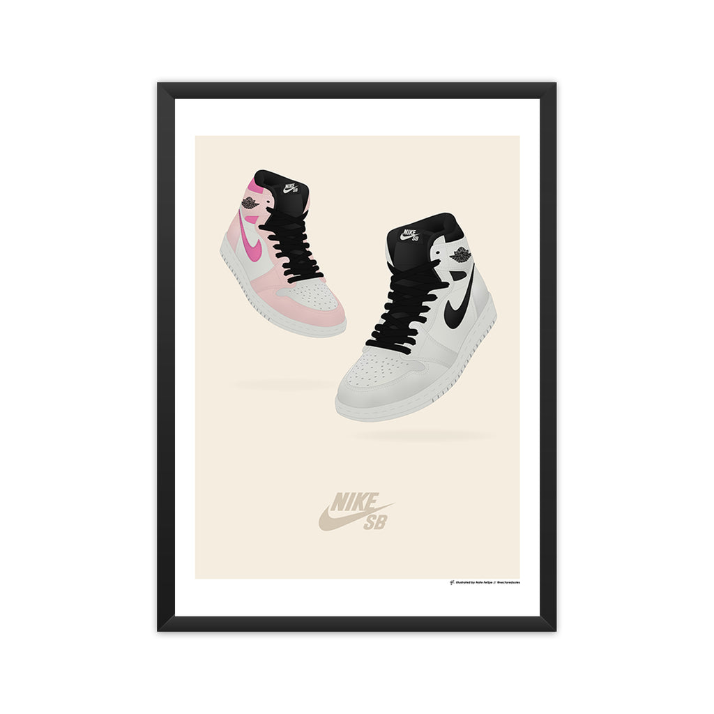 Air Jordan 1 x Nike SB 'NYC to Paris' framed