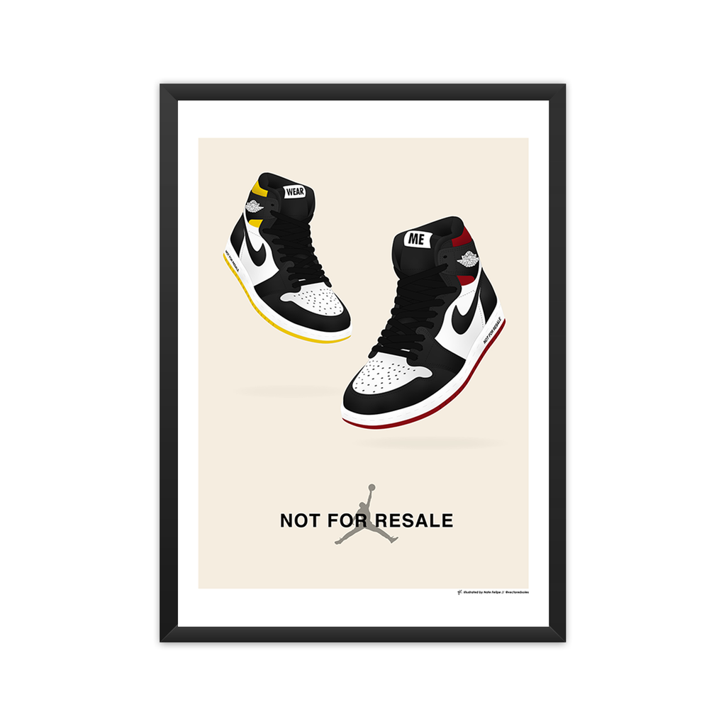 Air Jordan 1: 'NOT FOR RESALE' Pack framed