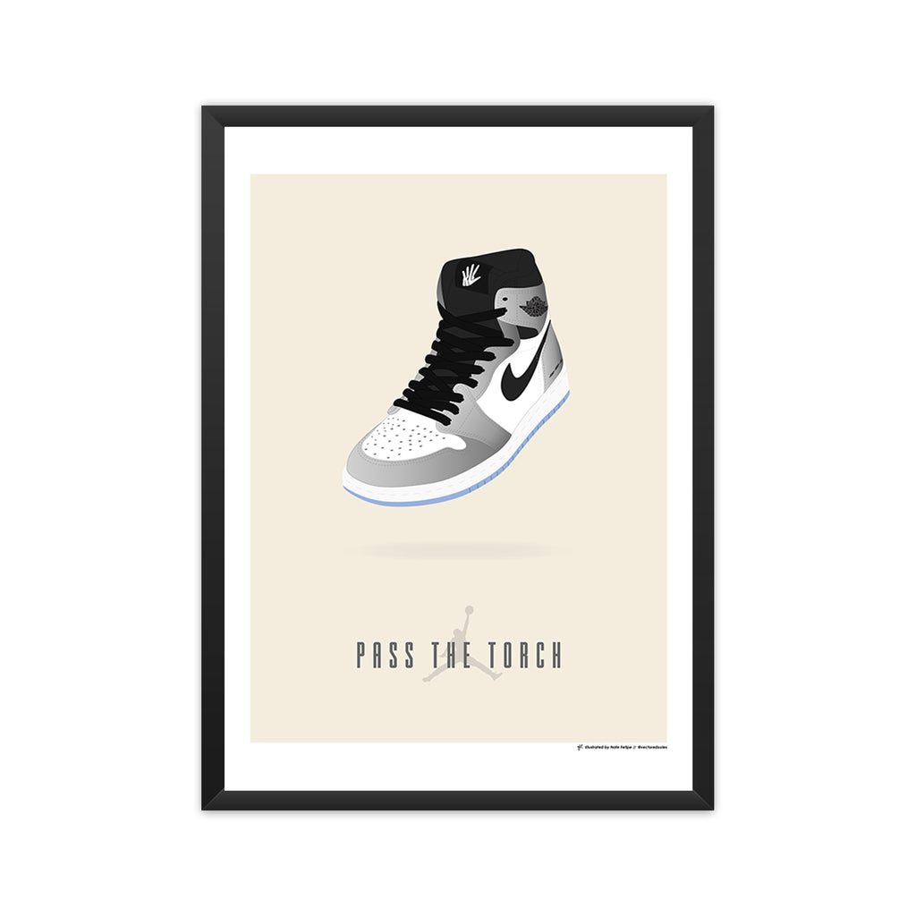 Air Jordan 1: Pass The Torch (Kawhi Leonard) framed