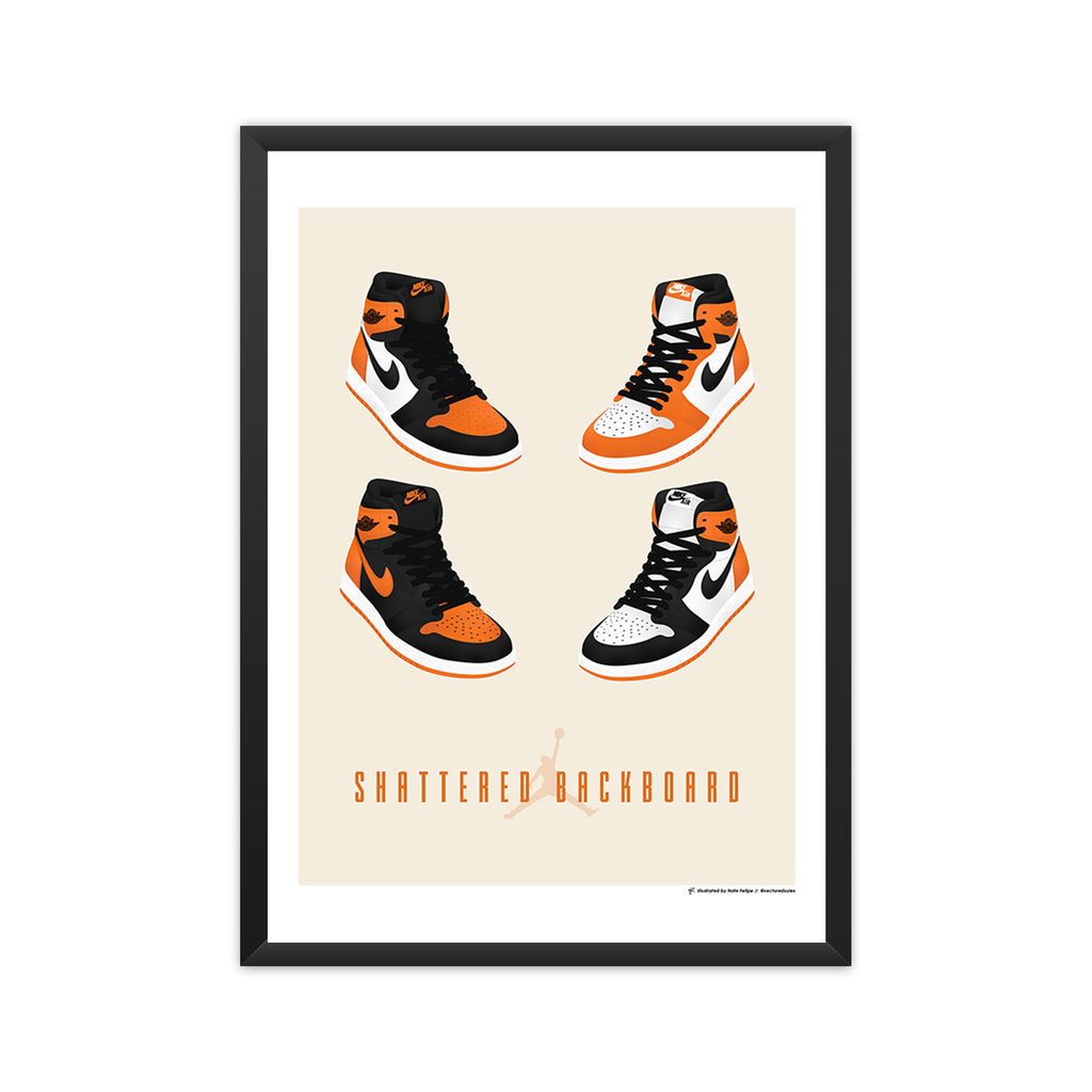 Air Jordan 1: Shattered Backboard Collection framed