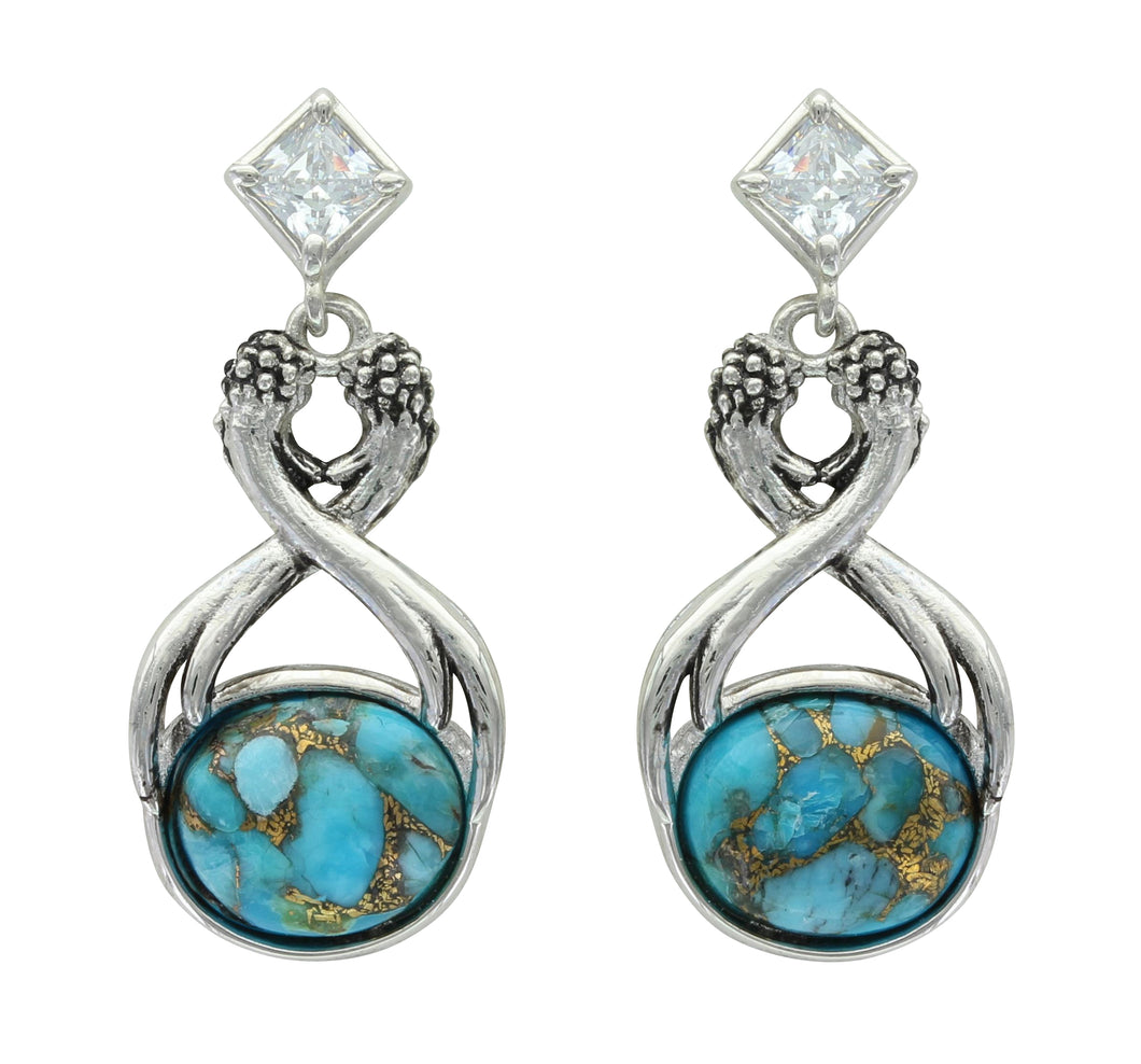 Reaching Towards The Heavens Turquoise Earrings
