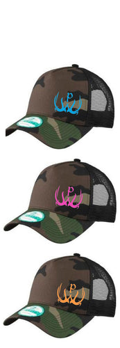 Pursue The Wild Camo Logo Hats