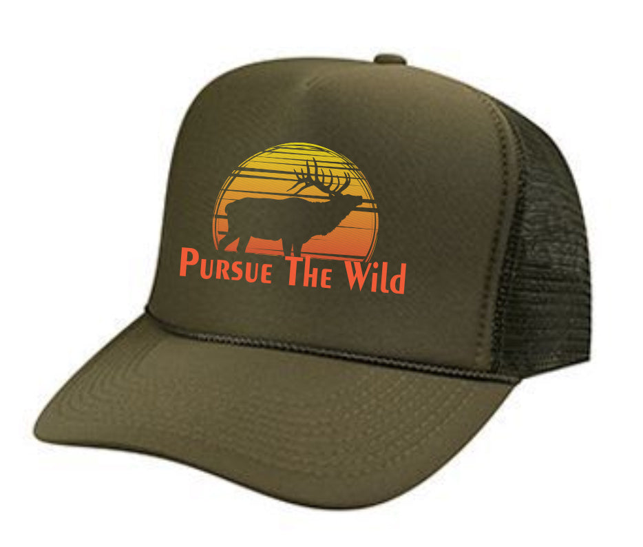 Sunrise Bull Hat- OD Green