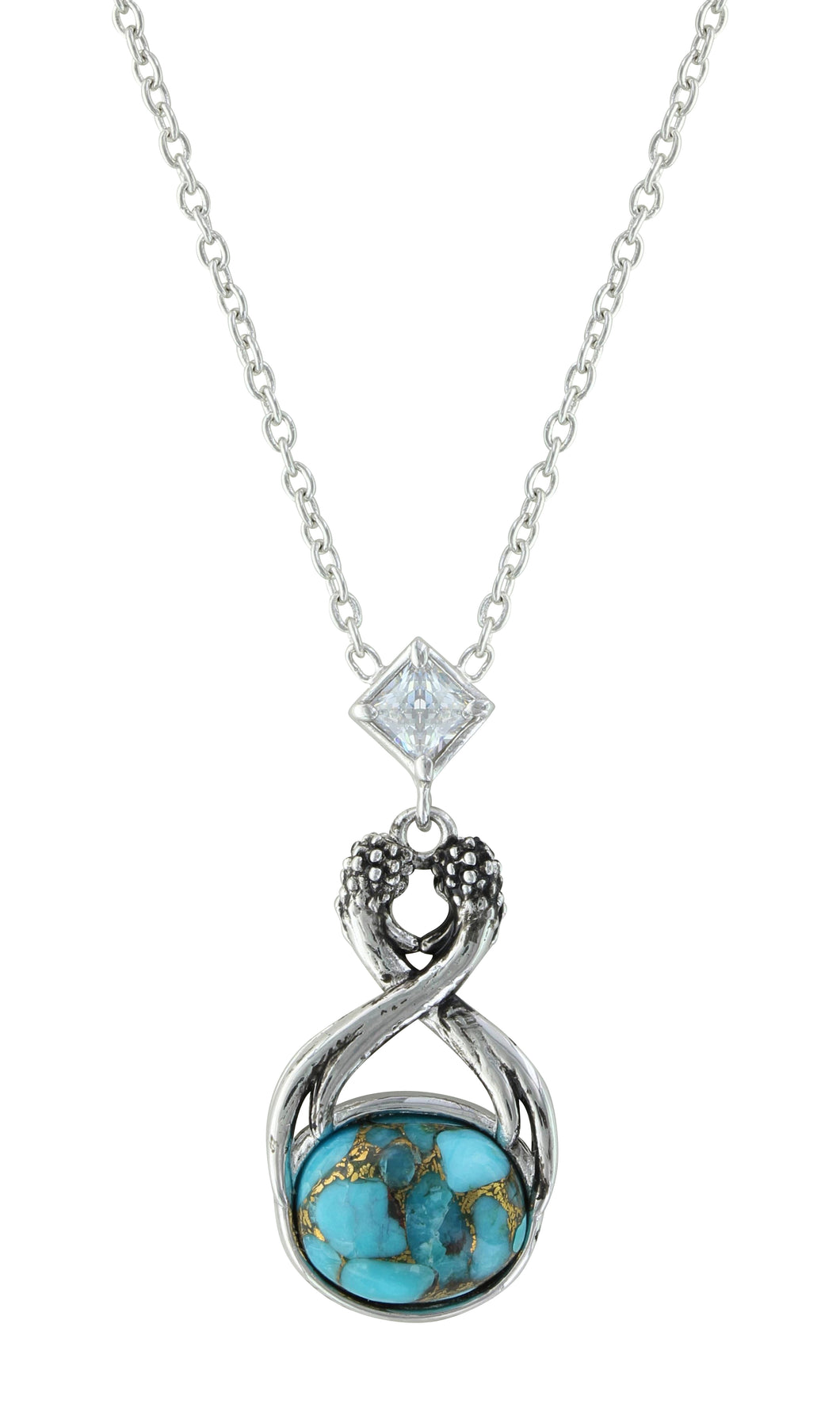 avindy pave products with tiny turquoise circle necklace