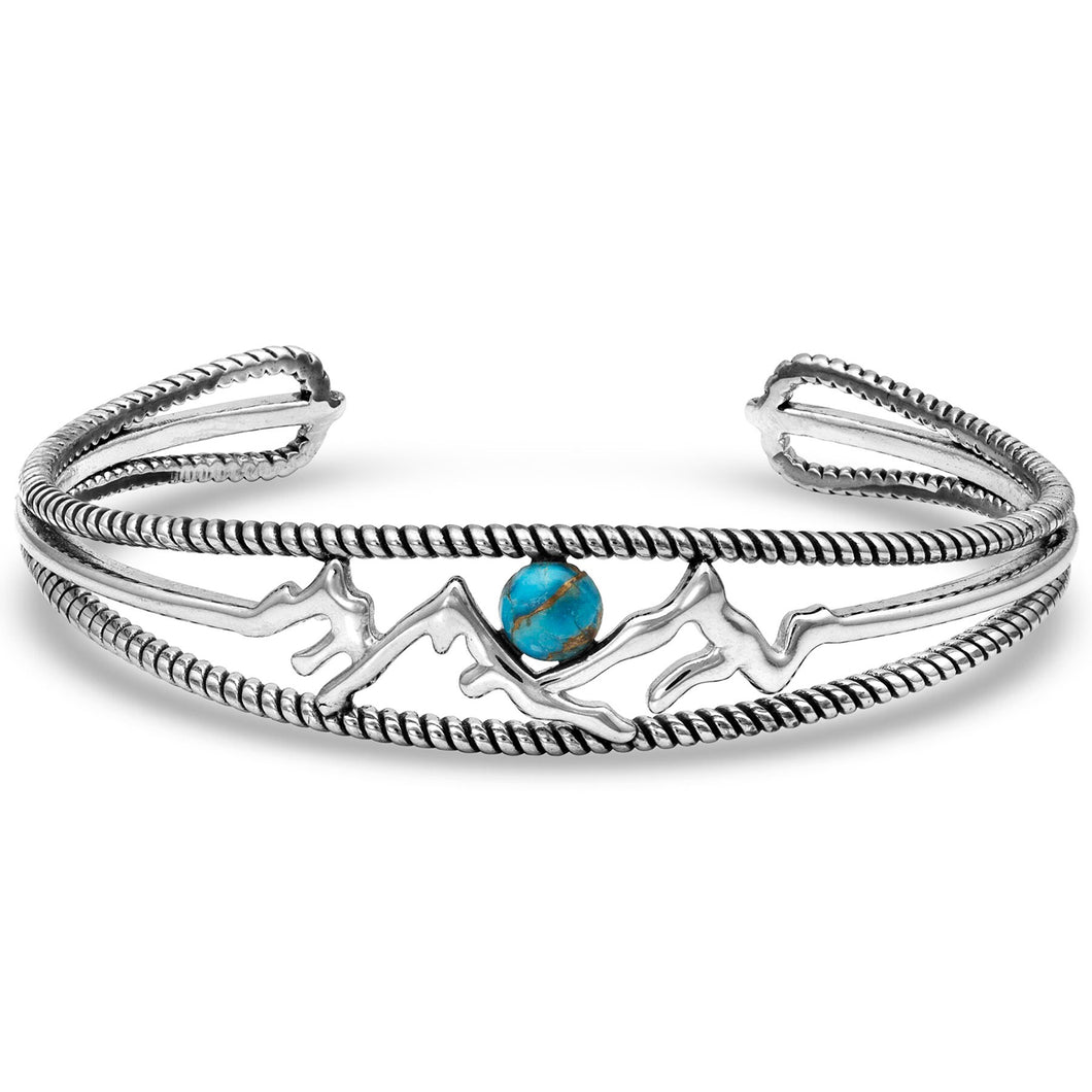 Pursue the Wild Mountain Turquoise Cuff Bracelet