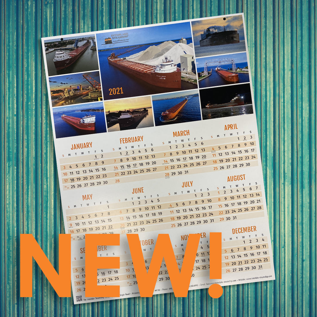 2021 Interlake Steamship Company Wall Calendar