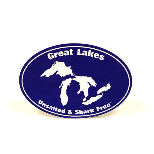 Great Lakes Unsalted & Shark Free Sticker