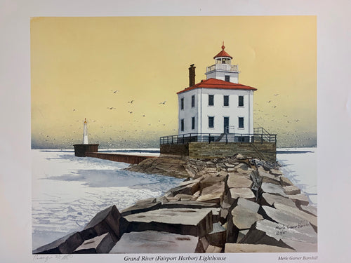 Merle Garver Barnhill Watercolor Lighthouse Prints - Signed and Numbered