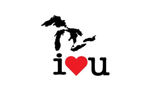 Great Lakes I Love You Sticker