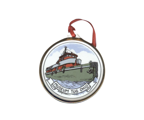 Museum Tug Ohio Ceramic Ornament