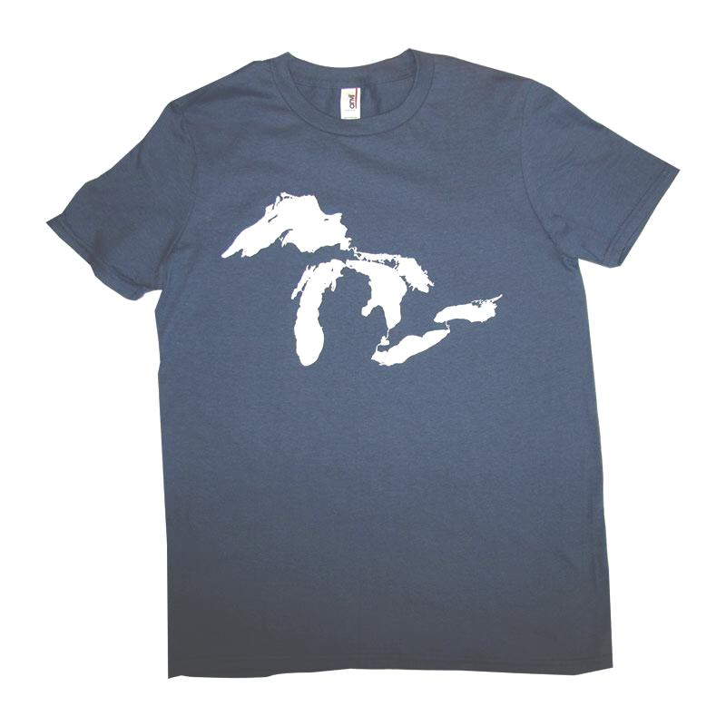 Adult Lake Blue Crew Neck Great Lakes T-shirt
