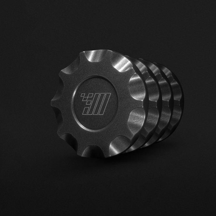 Billet Aluminum Bolt-On Center Caps (Set of 4)