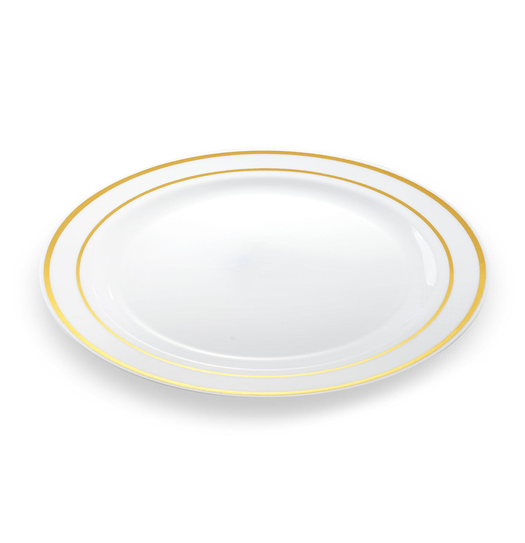 sc 1 st  Simply Disposables & 20 x Large Disposable Plates | Gold Rim 10.25