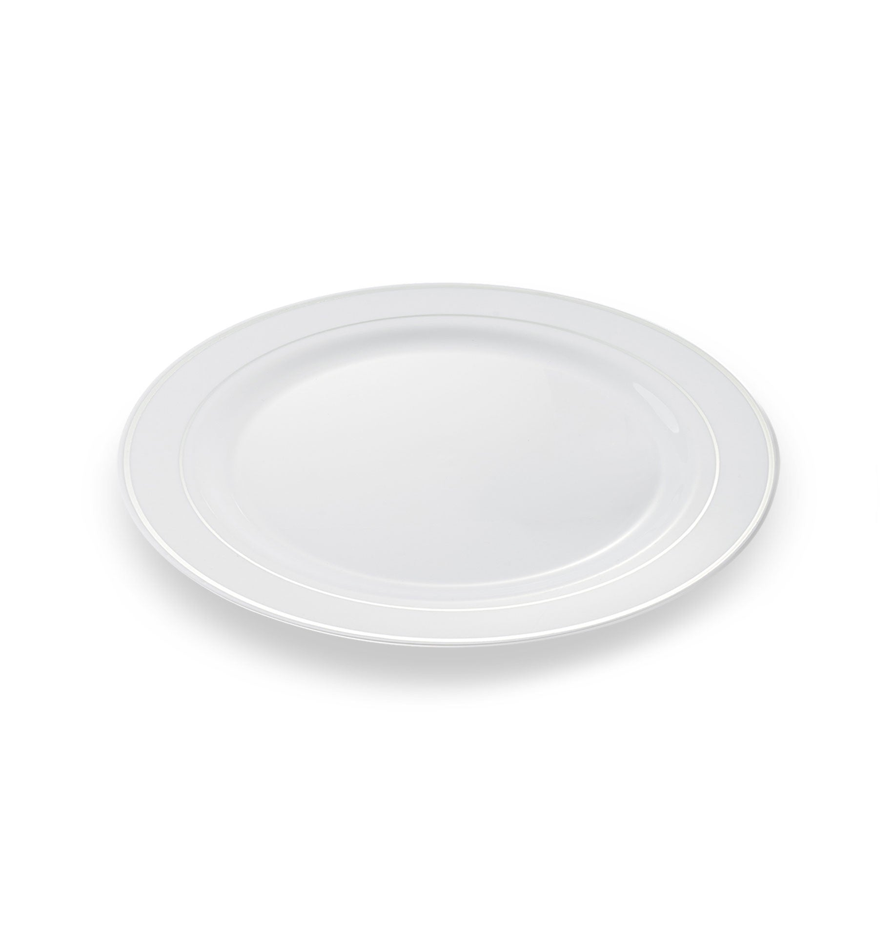 sc 1 st  Simply Disposables & 20 x Small Disposable Plates | Silver Rim 7.5