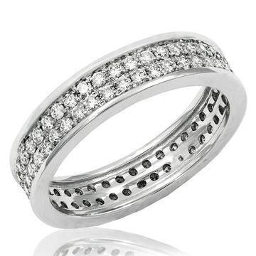 18K White Gold Band Ring