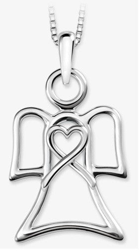 The Angel Pendant By Stan W. Tait Silver Angel Jewelry Pendant With Chain
