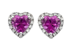 14KT Gold Genesis Pink Topaz and Diamond Earrings