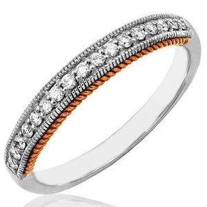 14 KT White or Rose Gold Diamonds Band Ring