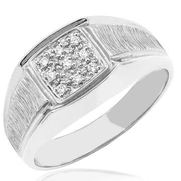 10 KT White or 10 KT Yellow Gold Diamond Men's Ring