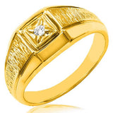 10K Gold Diamonds Men's Ring