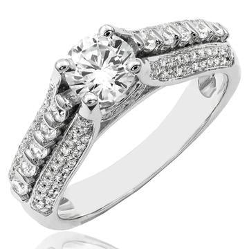 18k White Gold Engagement Solitaire Ring