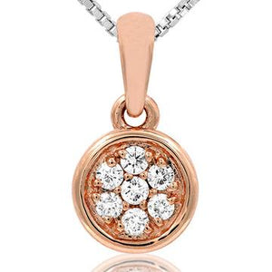 14 KT Rose Gold Diamond Pendant