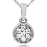 14 KT White Gold Diamond Pendant