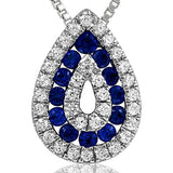 14K Color Gem Pendant with Diamonds
