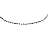 Sterling Silver Dc Ball Chain 2.0mm Necklace 30 inch length