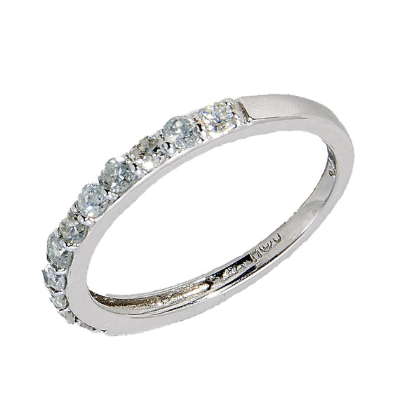 14KT WHITE GOLD DIAMOND PINKY RING