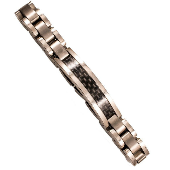 Titanium & Carbon Men's Bracelet