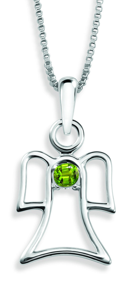 The Angel Pendant By Stan W. Tait with Swarovski Elements Birthstones -Birthstone August