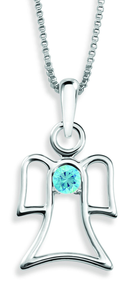The Angel Pendant By Stan W. Tait with Swarovski Elements Birthstones -Birthstone December