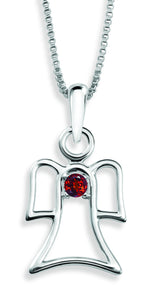 The Angel Pendant By Stan W. Tait with Swarovski Elements Birthstones -Birthstone January
