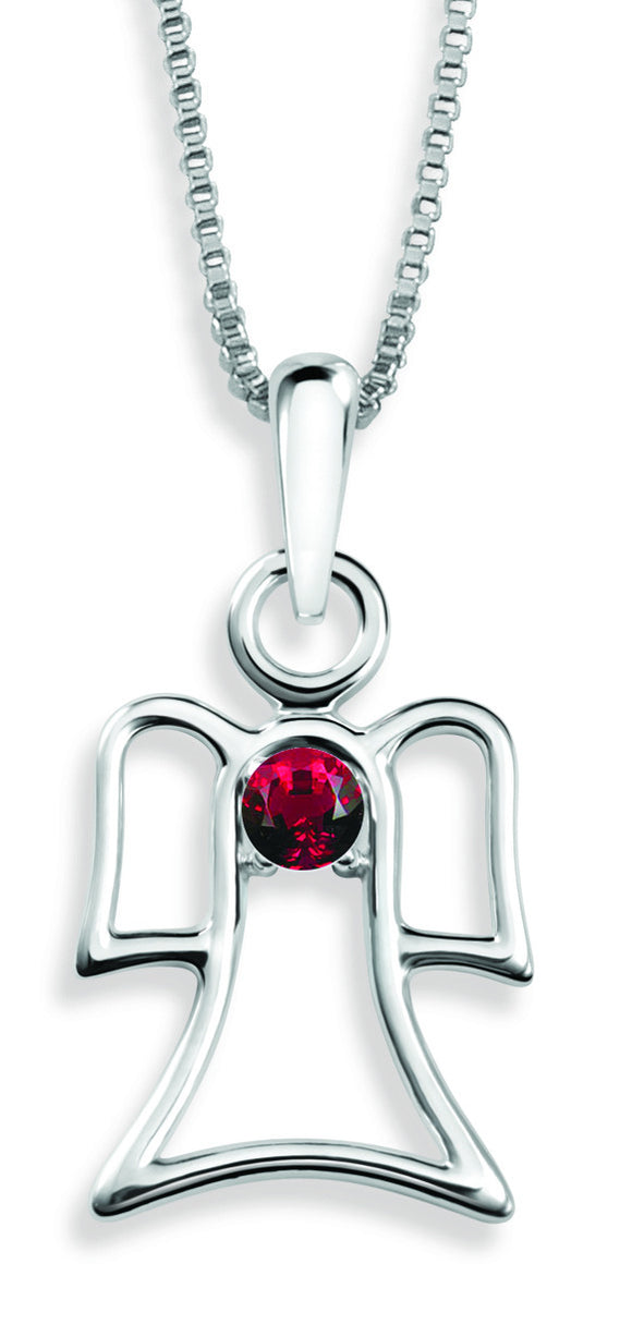 The Angel Pendant By Stan W. Tait with Swarovski Elements Birthstones -Birthstone July