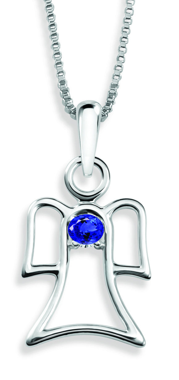 The Angel Pendant By Stan W. Tait with Swarovski Elements Birthstones -Birthstone June