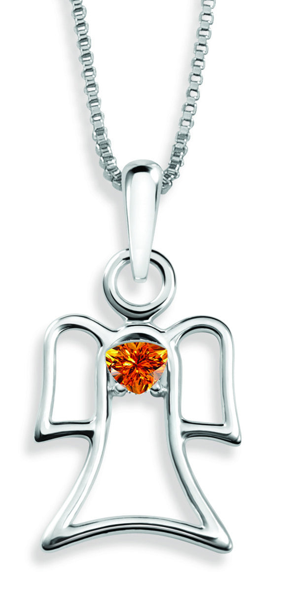 The Angel Pendant By Stan W. Tait with Swarovski Elements Birthstones -Birthstone November
