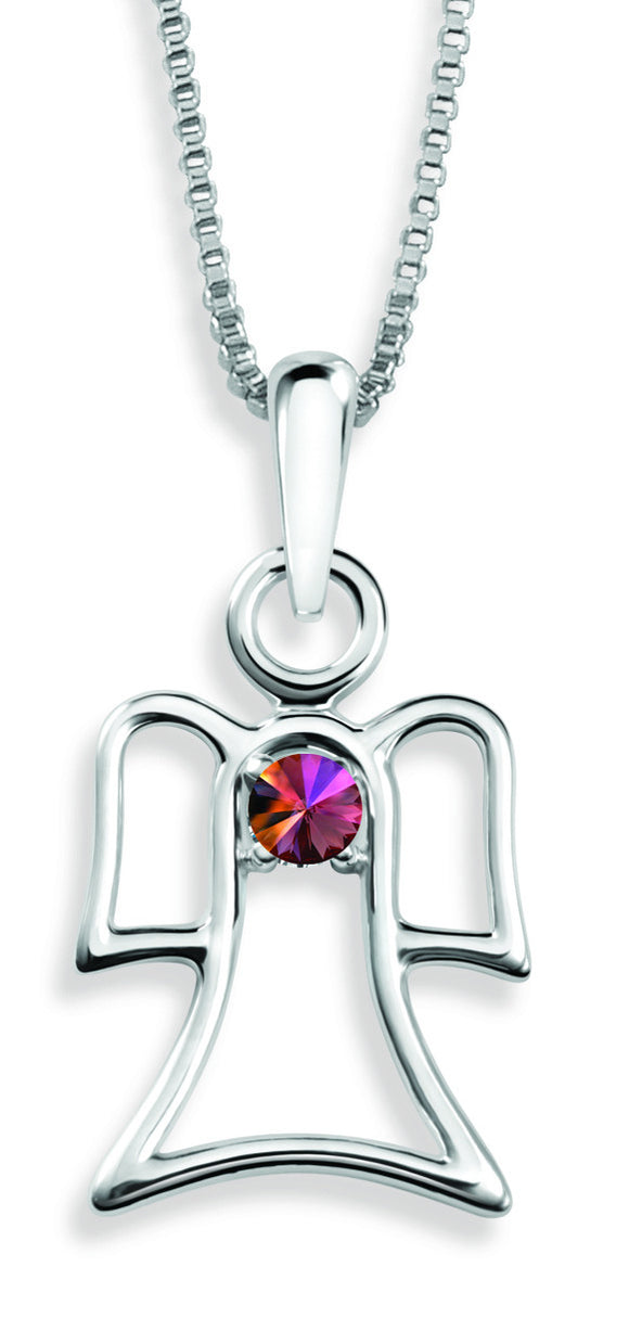 The Angel Pendant By Stan W. Tait with Swarovski Elements Birthstones -Birthstone October