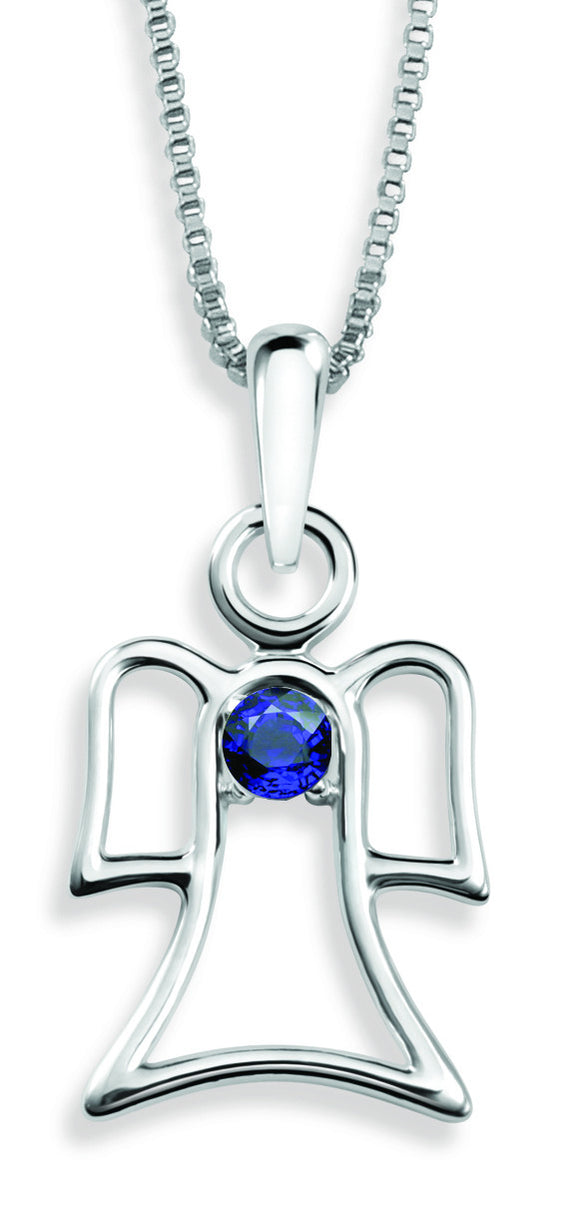 The Angel Pendant By Stan W. Tait with Swarovski Elements Birthstones -Birthstone September