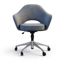 Curved Padded Swivel Chair